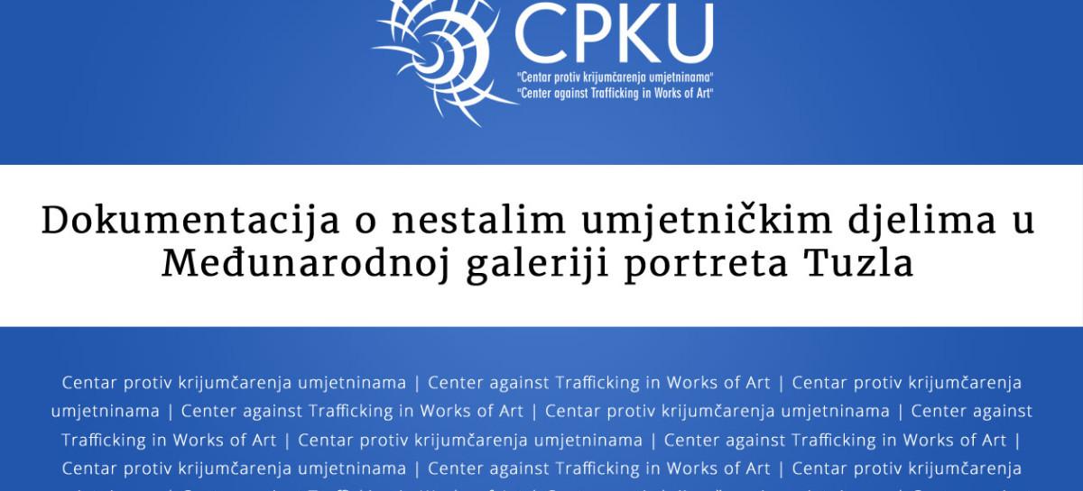 Dokumentacija o nestalim umjetničkim djelima u Međunarodnoj galeriji portreta Tuzla