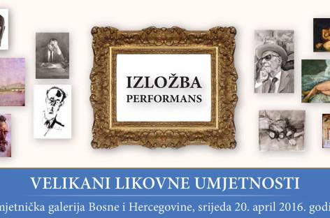 Izložba – performans: Velikani likovne umjetnosti