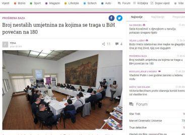 Mediji: Broj nestalih umjetnina za kojima se traga u BiH povećan na 180