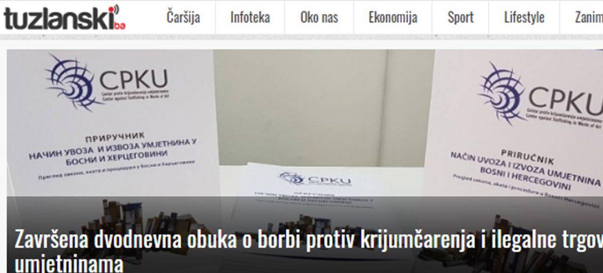 Tuzlanski.ba: Završena dvodnevna obuka o borbi protiv krijumčarenja i ilegalne trgovine umjetninama