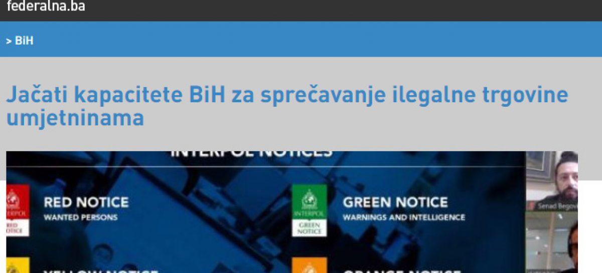 MEDIJI (FENA): Jačati kapacitete BiH za sprječavanje ilegalne trgovine umjetninama