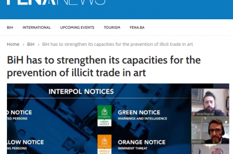 FENA.news: BiH has to strengthen its capacities for the prevention of illicit trade in art