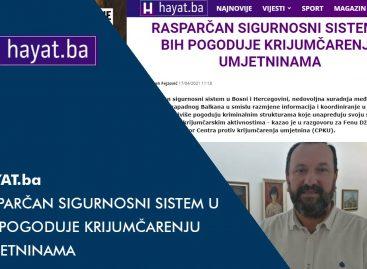 HAYAT.ba: Rasparčan sigurnosni sistem u BiH pogoduje krijumčarenju umjetninama