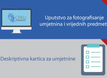 Uputstvo za fotografisanje umjetnina i vrijednih predmeta i Deskriptivna kartica za umjetnine
